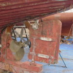 Displacement Hull Inboard Rudders